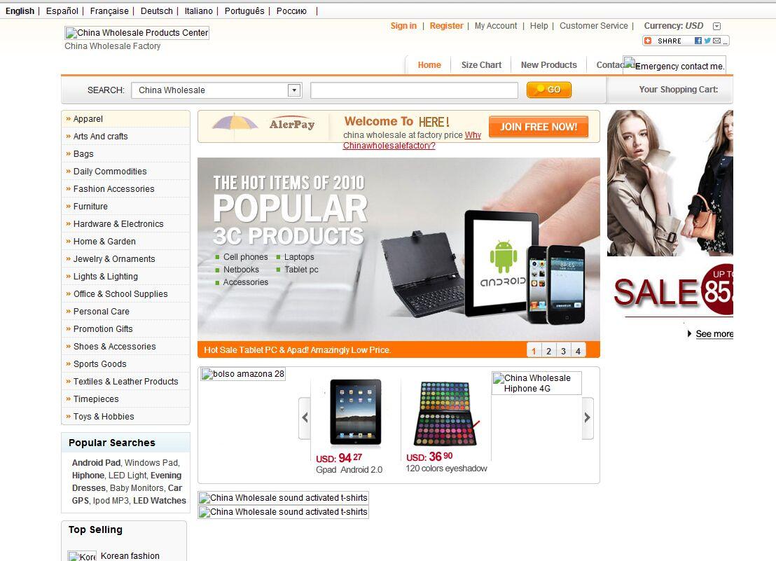 http://www.chinawholesalefactory.com/ zencart建站,仿易店网模板